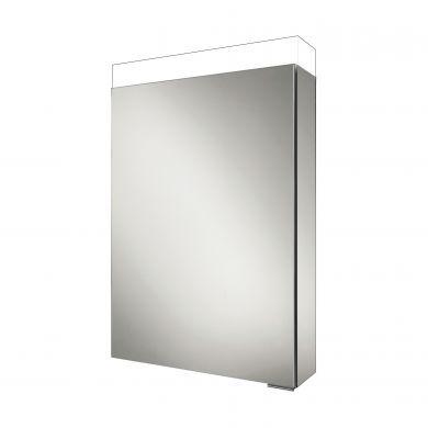HiB Apex 50 Single Door LED Illuminated Mirrored Cabinet - 500x750mm