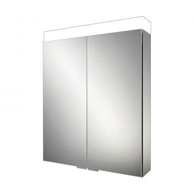 HiB Apex 60 Double Door LED Illuminated Mirrored Cabinet - 600x750mm