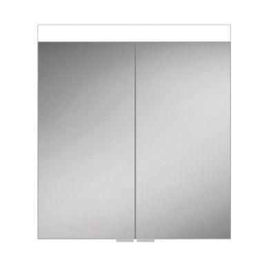 HiB Apex 80 Double Door LED Illuminated Mirrored Cabinet - 800x750mm