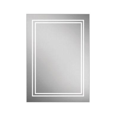 HiB Edge 50 Single Door LED Illuminated Steam Free Mirrored Cabinet - 500x700mm