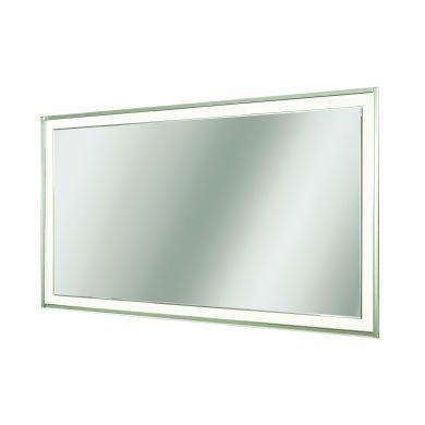 HiB Georgia 120 Bevelled Edge Mirror With Clear Glass Frame - 1200x600mm
