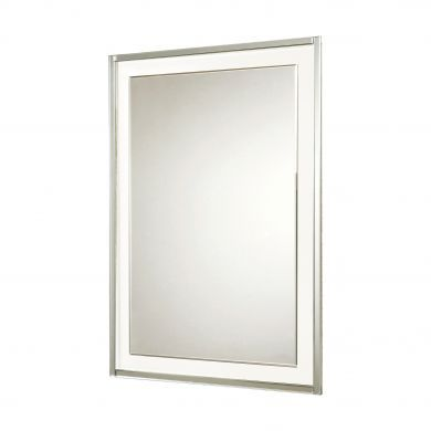HiB Georgia 50 Bevelled Edge Mirror With Clear Glass Frame - 500x700mm