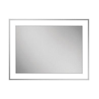HiB Georgia 60 Bevelled Edge Mirror With Clear Glass Frame - 600x800mm