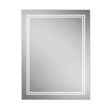 HiB Outline 60 Steam Free Mirror With LED Ambient Lighting - 600x800mm