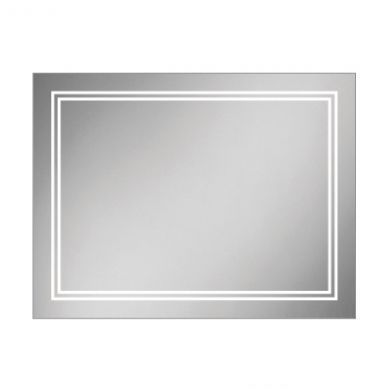 HiB Outline 80 Steam Free Mirror With LED Ambient Lighting - 800x600mm