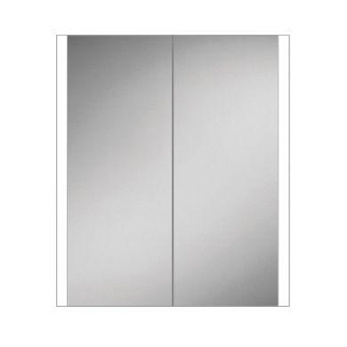 HiB Paragon 60 Double Door Steam Free Adjustable LED Illuminated Mirrored Cabinet - 664x700mm