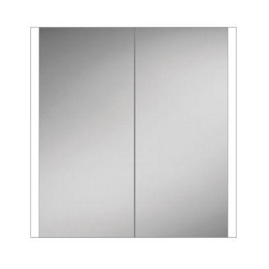 HiB Paragon 80 Double Door Steam Free Adjustable LED Illuminated Mirrored Cabinet - 864x700mm