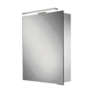 HiB Proton Single Door LED Illuminated Mirrored Cabinet - 500x720mm