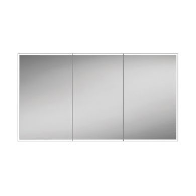 HiB Qubic 120 Colour Changing LED Triple Door Mirrored Cabinet - 1200x700mm