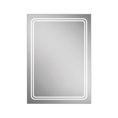 HiB Rotary LED Backlit Steam Free Mirror - 500x700mm