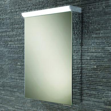 HiB Spectrum Single Door LED Illuminated Mirrored Cabinet - 500x700mm