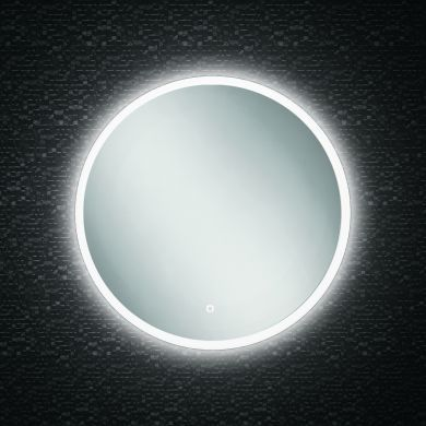 HiB Sphere 60 Circular Steam Free Mirror With LED Ambient Lighting - 600mm