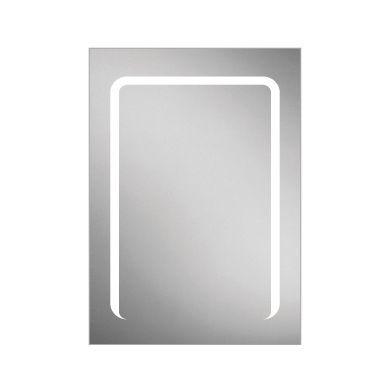 HiB Stratus 50 Single Door LED Illuminated Steam Free Mirrored Cabinet - 500x700mm