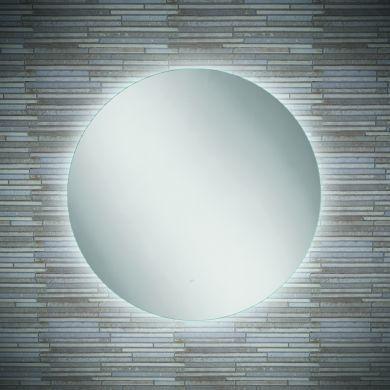 HiB Theme 60 Circular Steam Free Mirror With LED Ambient Lighting - 600mm