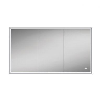 HiB Vanquish 120 Triple Door LED Illuminated Steam Free Recessed Mirrored Cabinet - 1230x730mm