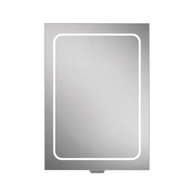 HiB Vapor 50 Single Door LED Illuminated Steam Free Mirrored Cabinet - 500x700mm