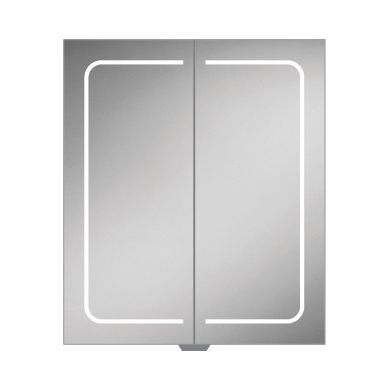 HiB Vapor 60 Double Door LED Illuminated Steam Free Mirrored Cabinet - 600x700mm