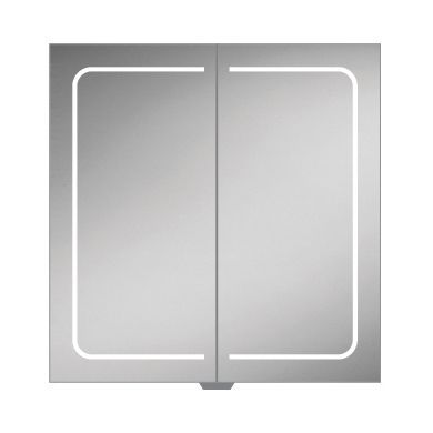HiB Vapor 80 Double Door LED Illuminated Steam Free Mirrored Cabinet - 800x700mm