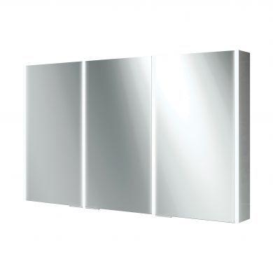 HiB Xenon 120 Triple Door LED Illuminated Mirrored Cabinet - 1205X700mm