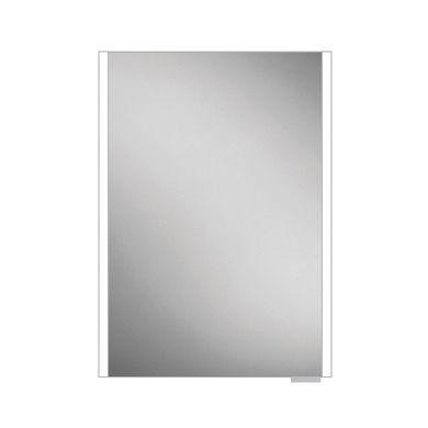 HiB Xenon 50 Single Door LED Illuminated Mirrored Cabinet - 505X700mm