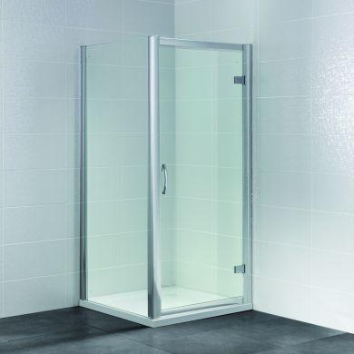 Frontline Identiti2 8mm Hinged Shower Door with Semi-Frameless Design - 1000mm