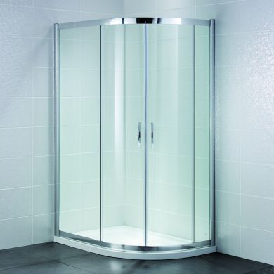 Frontline Identiti2 8mm Offset Quadrant Shower Enclosure with Two Sliding Doors - 1000x800mm