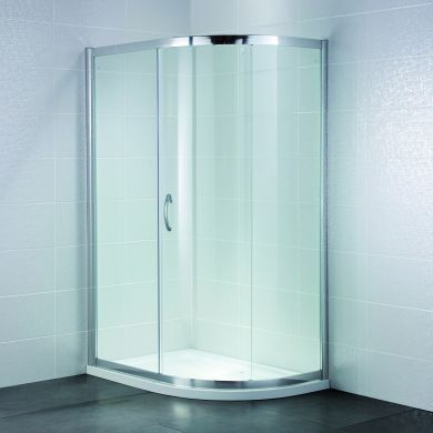 Frontline Identiti2 8mm Offset Quadrant Shower Enclosure with Sliding Door - 1200x800mm