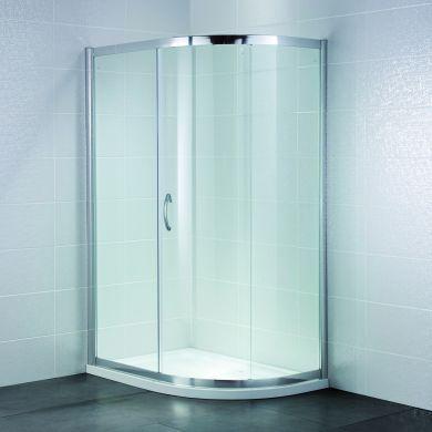 Frontline Identiti2 8mm Offset Quadrant Shower Enclosure with Sliding Door - 900x760mm