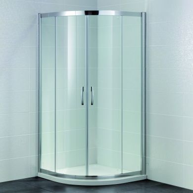 Frontline Identiti2 8mm Quadrant Shower Enclosure with Two Sliding Doors - 800x800mm