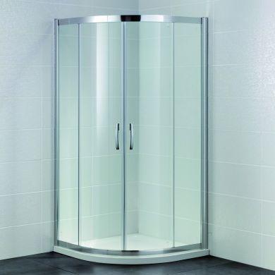 Frontline Identiti2 8mm Quadrant Shower Enclosure with Two Sliding Doors - 900x900mm