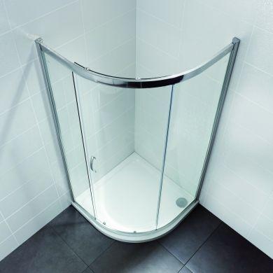 Frontline Identiti2 8mm Quadrant Shower Enclosure with Sliding Door - 1000x1000mm