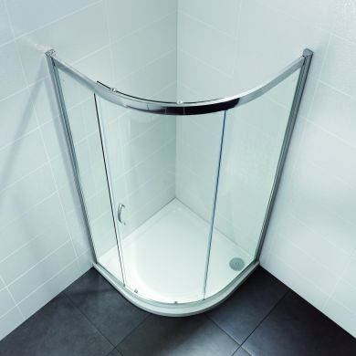 Frontline Identiti2 8mm Quadrant Shower Enclosure with Sliding Door - 800x800mm