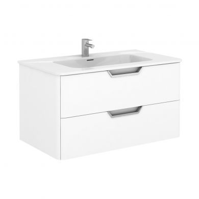 Frontline Royo Life 1010mm Double Drawer Wall Hung Vanity Unit and Basin