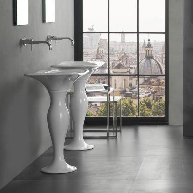 Olympia Designer Formosa Freestanding Basin and Pedestal - 650mm - Main Image