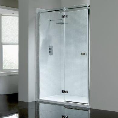 Frontline Prestige2 8mm Left Hand Hinged Shower Door with Frameless Design - 1000mm