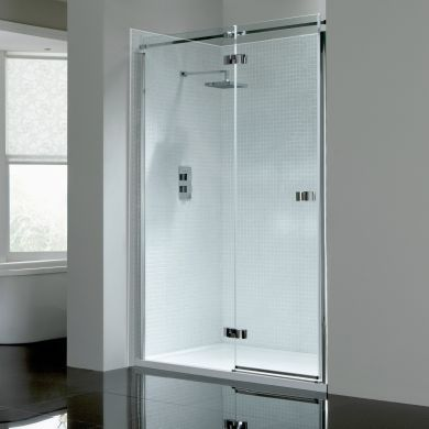 Frontline Prestige2 8mm Left Hand Hinged Shower Door with Frameless Design - 900mm