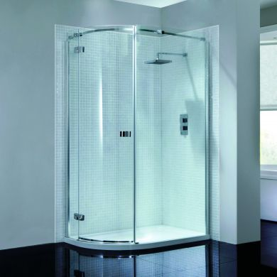 Frontline Prestige2 8mm Left Hand Quadrant Shower Enclosure with Hinged Door - 800x800mm