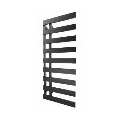 Radox Dora Matt Black Designer Mild Steel Towel Radiator 1250x500mm