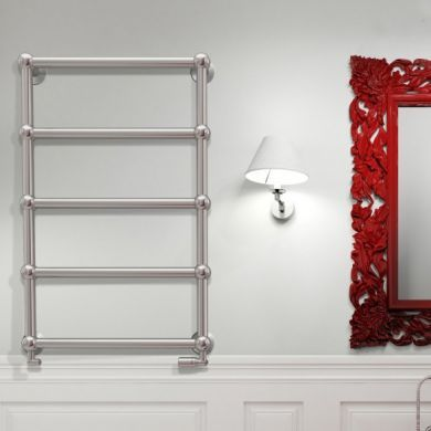 Radox Edwardian Wall Mounted Designer Mild Steel Towel Radiator 920x600mm