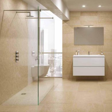 Rak Feeling Glass Shower Panel and Two Bracing Bars
