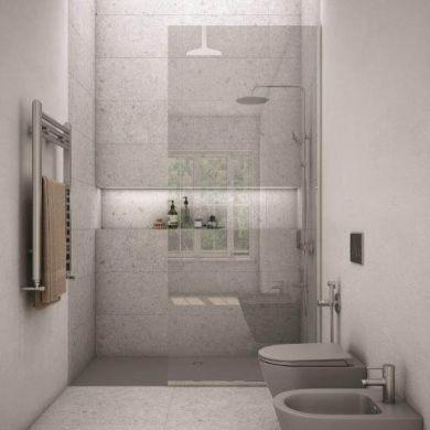 Rak Feeling Glass Shower Panel and Wall Profile