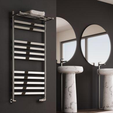 Reina Alento Polished Stainless Steel Designer Towel Radiator 1120x530mm