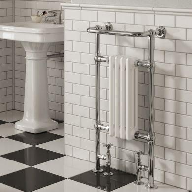 Reina Alicia Traditional Steel Towel Radiator 952x479mm