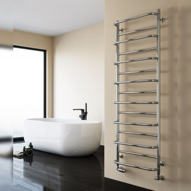 Reina Belbo Polished Stainless Steel Designer Towel Radiator 820x530mm