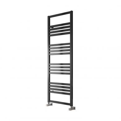 Reina Bolca Aluminium Designer Towel Rail 870x485mm - Satin Black