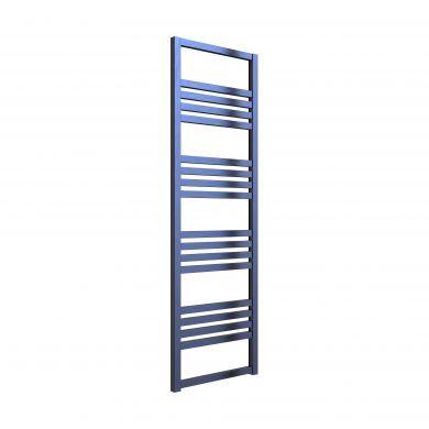 Reina Bolca Satin Blue Aluminium Designer Towel Rail 1200x485mm