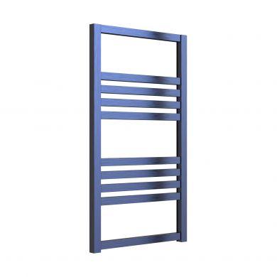Reina Bolca Satin Blue Aluminium Designer Towel Rail 1530x485mm