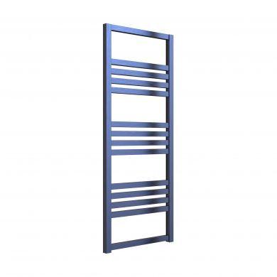 Reina Bolca Satin Blue Aluminium Designer Towel Rail 870x485mm