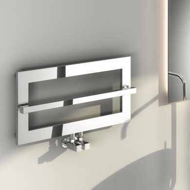 Reina Breno Designer Mild Steel Towel Radiator 700x350mm