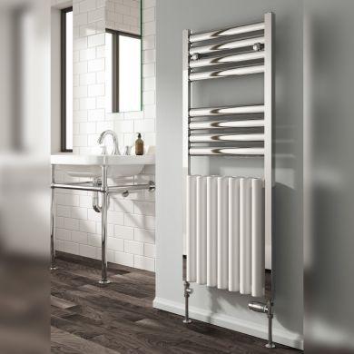 Reina Burton Aluminium Designer Towel Rail 1180x485mm